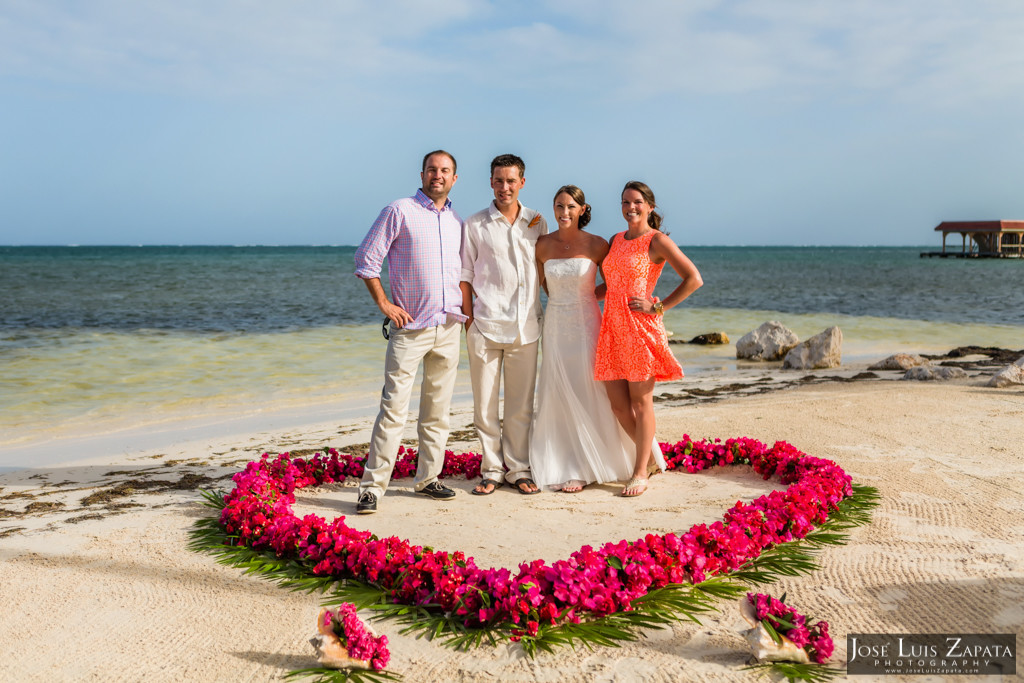 Chet & Kelli Coco Beach Wedding San Pedro Belize (42)