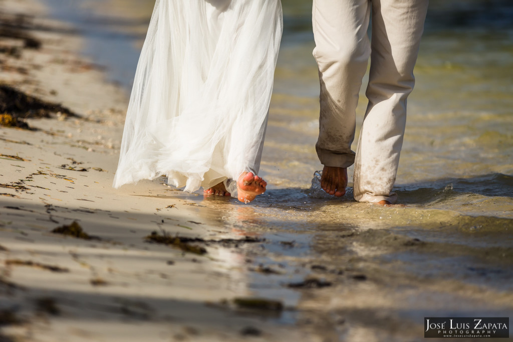 Chet & Kelli Coco Beach Wedding San Pedro Belize (46)