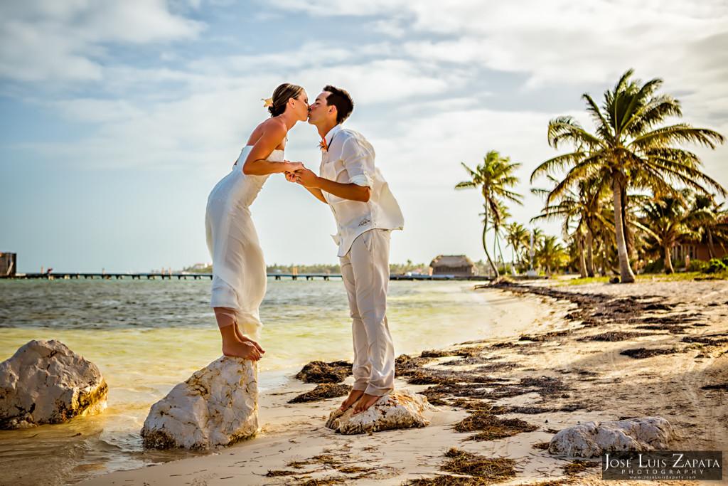 Chet & Kelli Coco Beach Wedding San Pedro Belize (47)