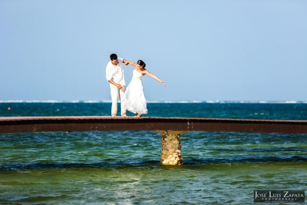 Chet & Kelli Coco Beach Wedding San Pedro Belize (48)