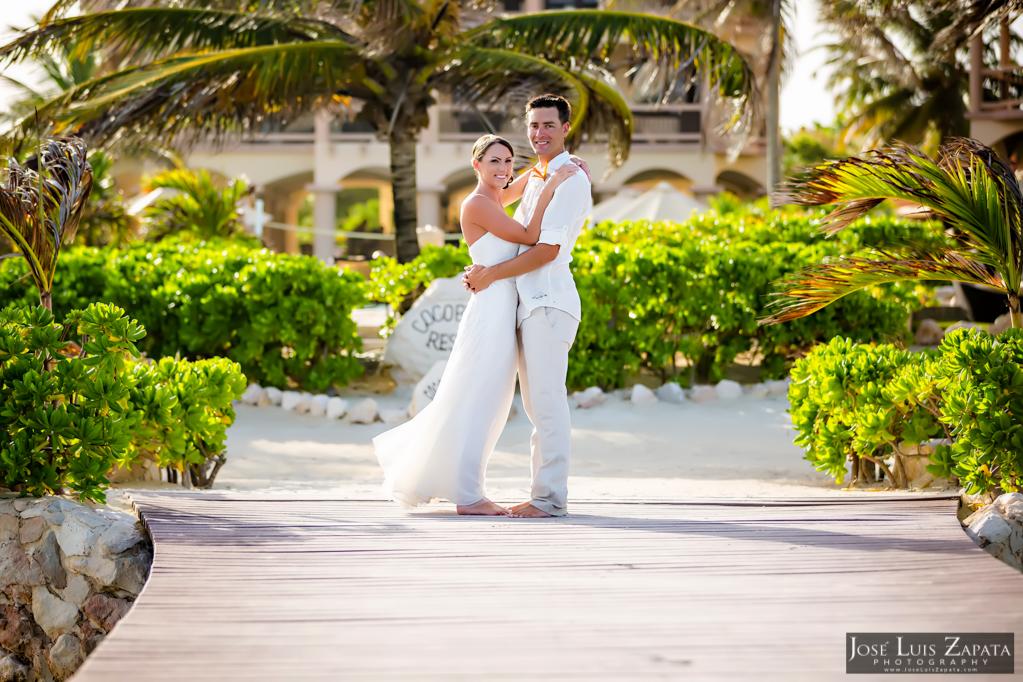 Chet & Kelli Coco Beach Wedding San Pedro Belize (50)