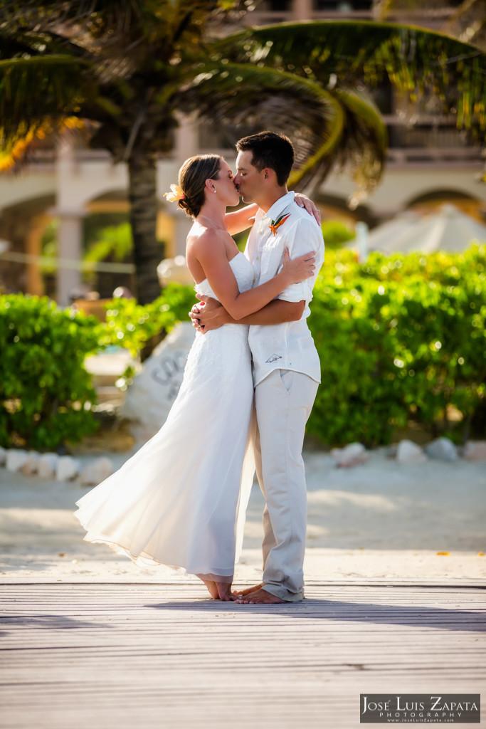 Chet & Kelli Coco Beach Wedding San Pedro Belize (51)