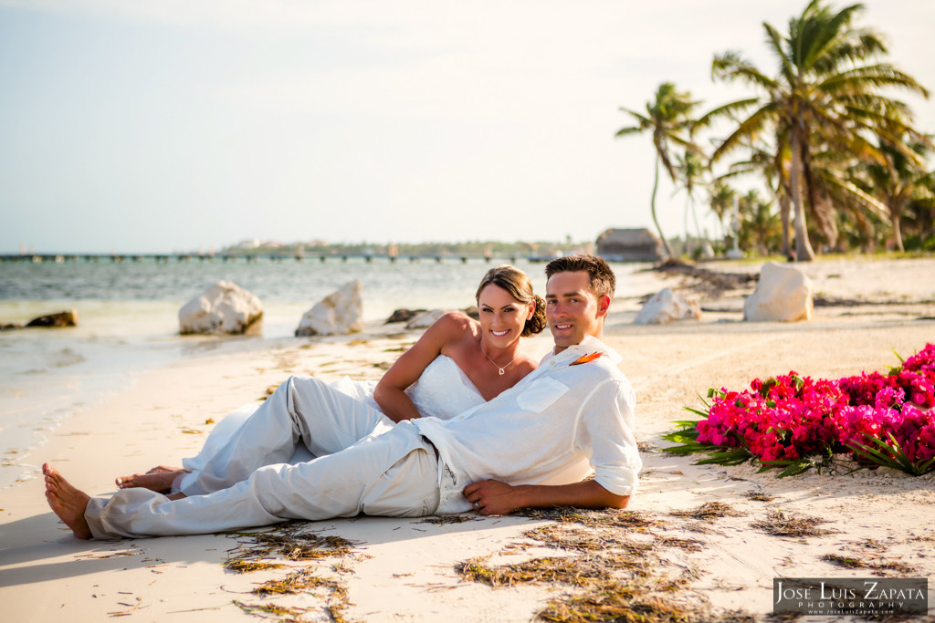 Chet & Kelli Coco Beach Wedding San Pedro Belize (52)