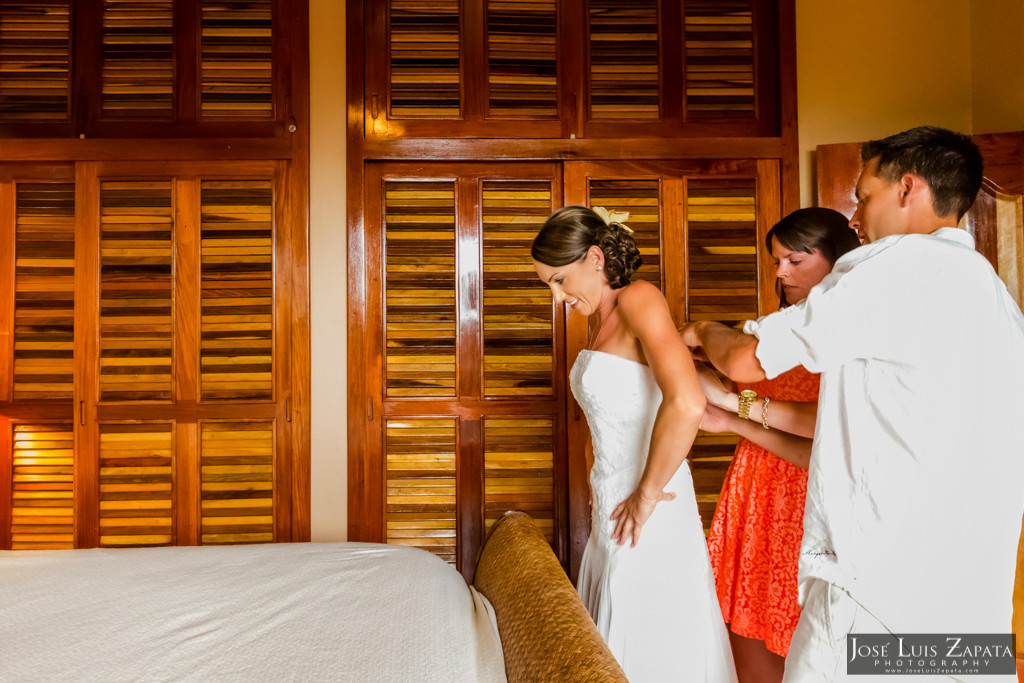 Chet & Kelli Coco Beach Wedding San Pedro Belize (9)