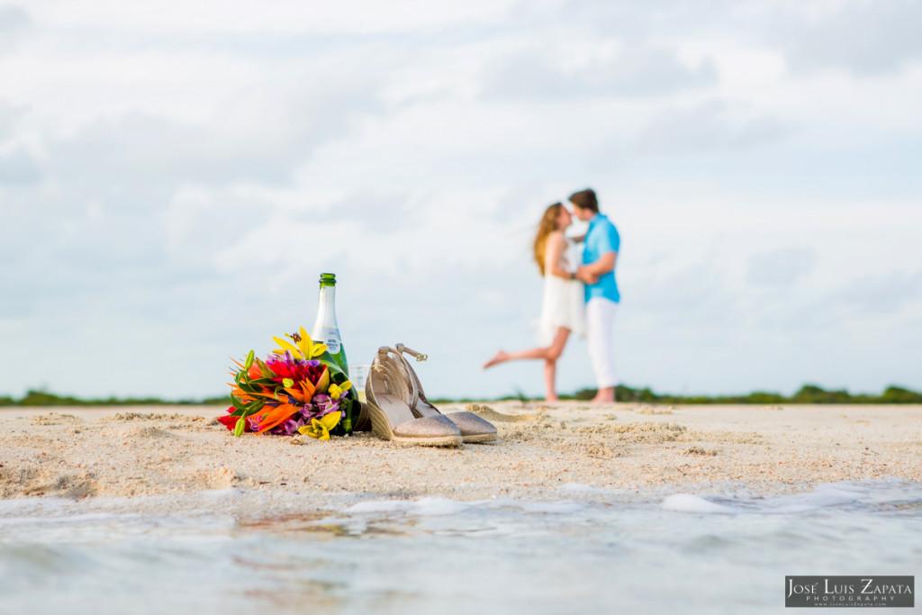 Wedding Elopement at San Pedro's Sandbar located west of Ambergris Caye, Belize
