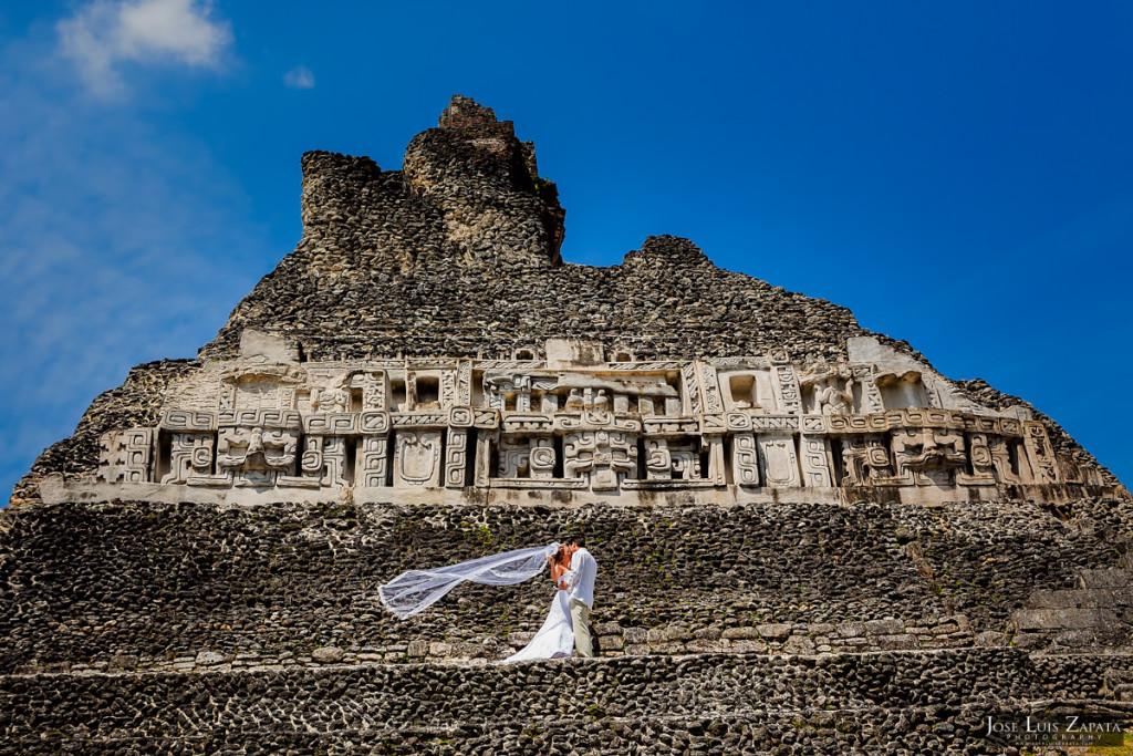 Wedding at Xunantunich Maya Site in Cayo, Belize