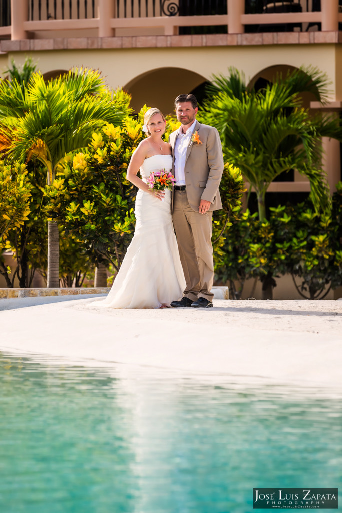 Kyle & Stephanie Coco Beach Resort Belize Beach Wedding