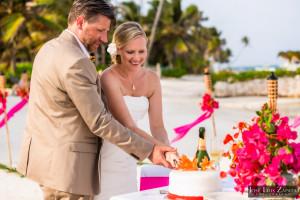 Kyle & Stephanie Coco Beach Resort Belize Beach Wedding