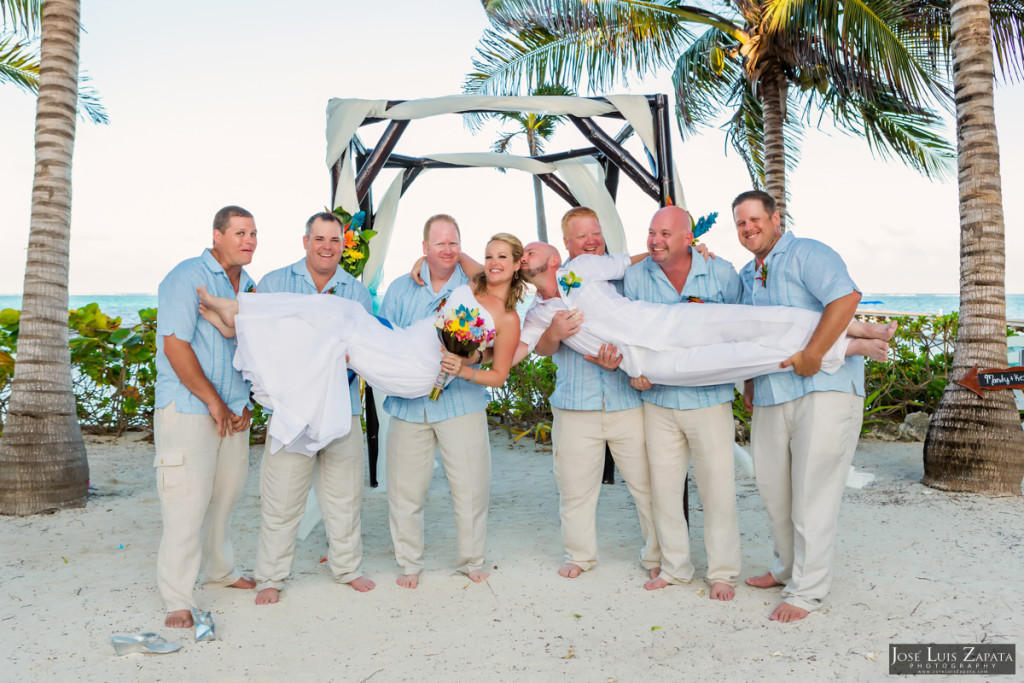 Kevin & Mandy - Blue Dolphin Vacation House Wedding - Ambergris Caye, Belize (42)