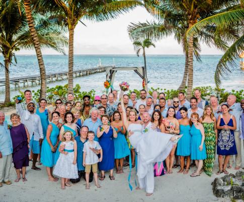 Ambergris Caye Beach Wedding | Blue Dolphin Vacation House Wedding