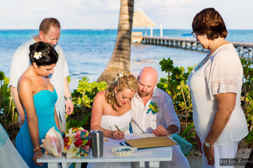 Kevin & Mandy - Blue Dolphin Vacation House Wedding - Ambergris Caye, Belize (53)