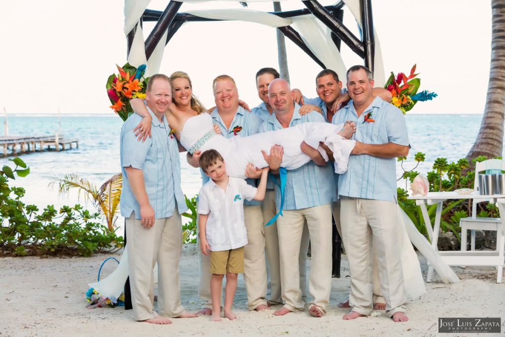 Kevin & Mandy - Blue Dolphin Vacation House Wedding - Ambergris Caye, Belize (47)