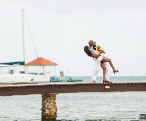 Intimate Coco Beach Belize Wedding