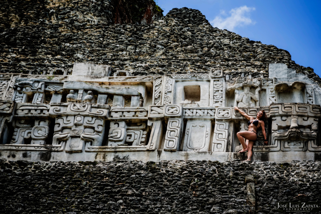 Adriell Patterson - American Fitness Model - Xunantunich Mayan Ruins Photo Shoot