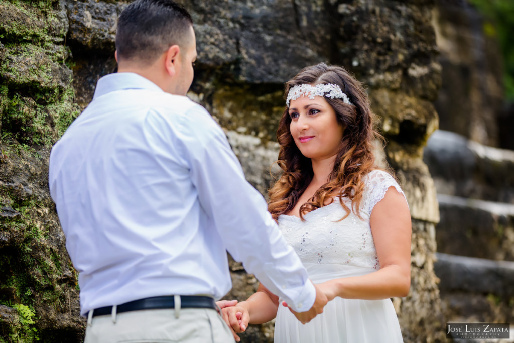 Tony & Cynthia - Altun Ha Mayan Ruin Belize Wedding