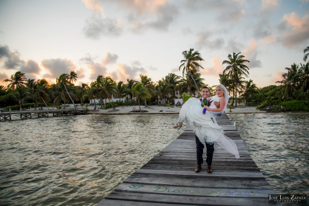 Private Beach Wedding Belize | Diamond Reed Villas | Ambergris Caye, Belize