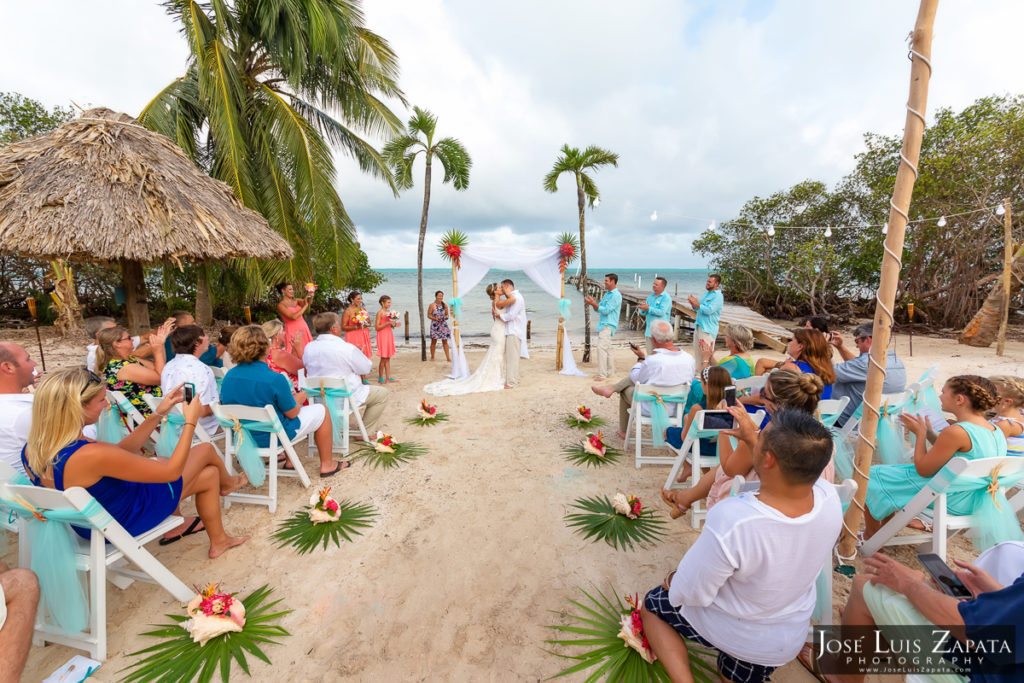 Destination Weddings Belize - Private Vacation House Island Wedding