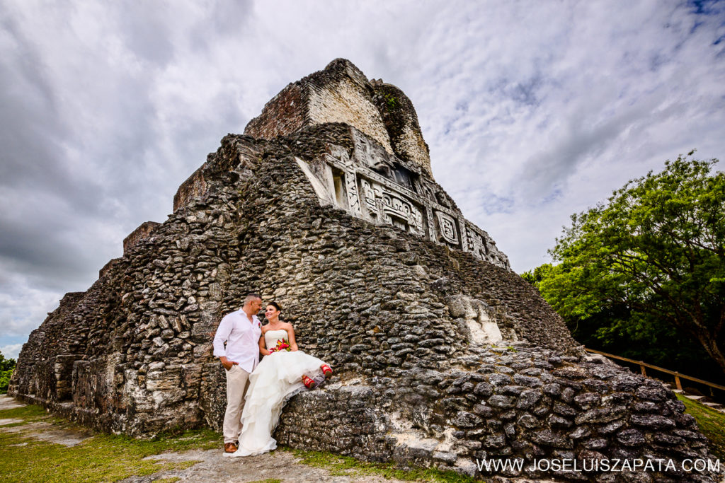 Belize Mayan Ruin Wedding Photos and Beach Wedding