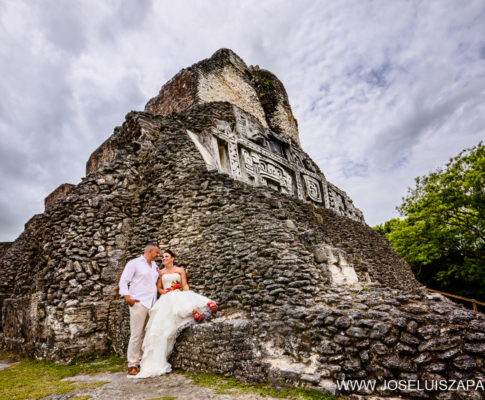 Mayan Ruins Beach Wedding Belize
