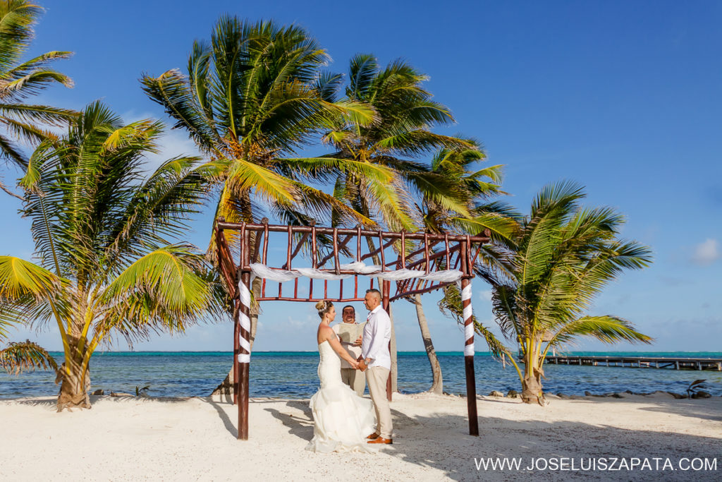 Mayan Ruins Beach Wedding Belize - Belize Mayan Ruin Wedding Photos and Beach Wedding