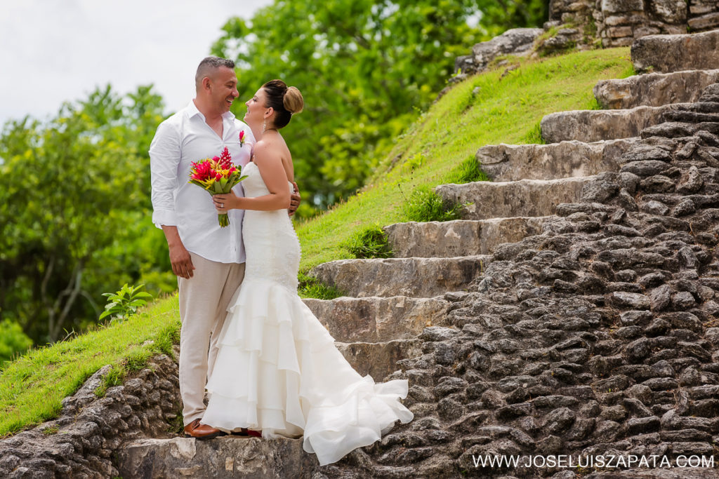 Mayan Ruin Wedding Photos and Belize Beach Wedding