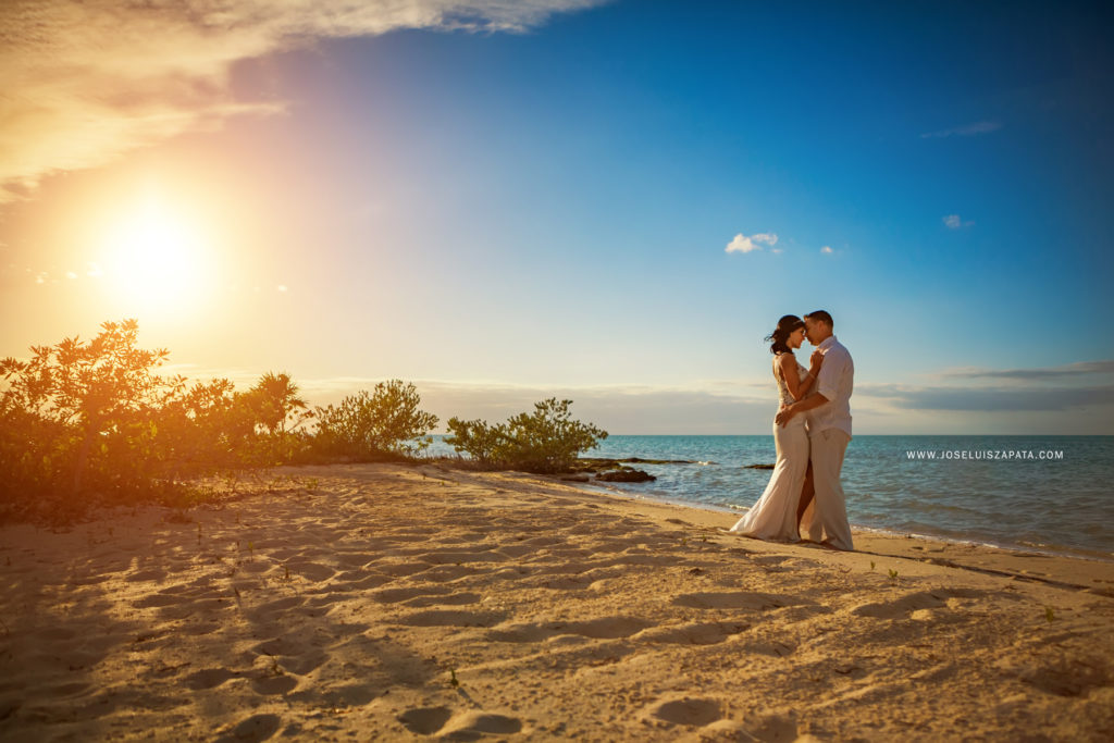 Sunset Wedding Ambergris Caye Belize - Belize Elopement Packages