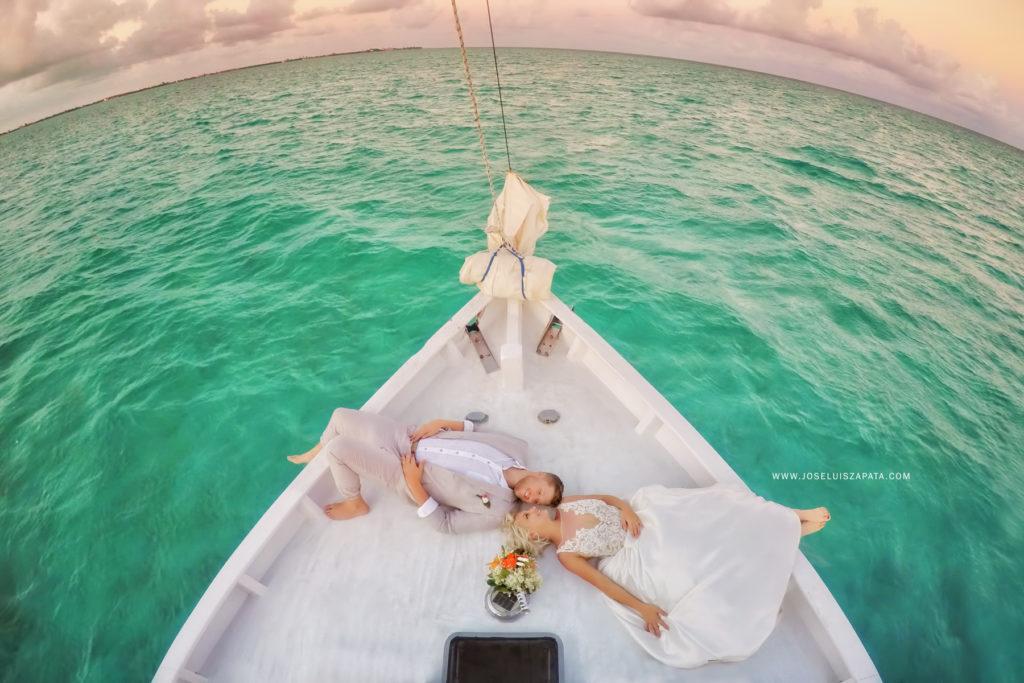 Belize Sailboat Wedding